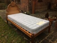 Luxury wood bed & mattress - v. lightly used. Over 1,000stg new. Brands Hatch area or TN14 collect
