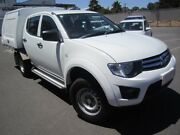 2014 Mitsubishi Triton MN MY15 GLX Double Cab White 5 Speed Manual Utility St Marys Mitcham Area Preview