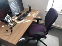 Perfect condition office desk, drawers and swivel chair. 2 sets -For sale as part or full set