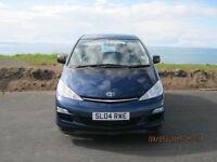 Toyota Previa 8 seater MPV low mileage good condition MOT July 17