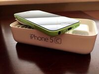 Iphone 5c Lime Green like new in box with accessories