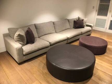 Kett Studio Lonsdale Lounge (2 piece) and Ottomans