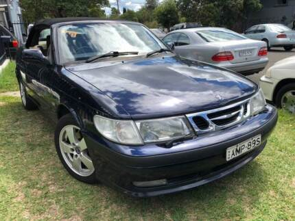SAAB CONVERTIBLE 2002 LOG BOOKS 5 SPEED ONLY 101KS EXCELLENT Yagoona Bankstown Area Preview