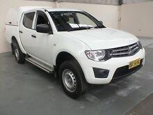 2013 Mitsubishi Triton MN MY12 GLX White 4 Speed Automatic Dual Cab Utility Gateshead Lake Macquarie Area Preview