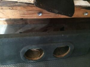 "Dual 12"" Reg cab thin sub box"