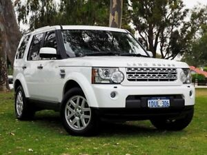 2012 Land Rover Discovery 4 Series 4 MY12 TdV6 CommandShift White 6 Speed Sports Automatic Wagon Myaree Melville Area Preview