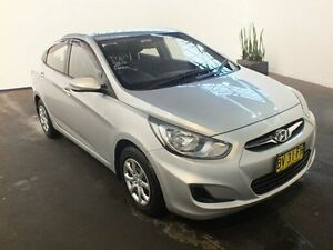 2013 Hyundai Accent RB2 Active Silver 4 Speed Automatic Sedan Clemton Park Canterbury Area Preview