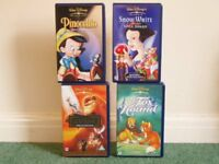 4x Disney films (3 are special editions), VHS tapes, only £5