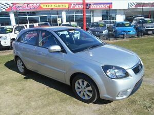 2010 Kia Rio JB MY10 S Silver 5 Speed Manual Hatchback Kippa-ring Redcliffe Area Preview