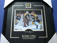 Bobby Orr Bundle Framed Photo with NHLPA COA Plus Signed Book