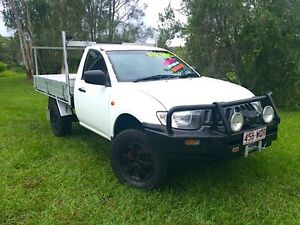 2006 Mitsubishi Triton ML MY07 GLX White 5 Speed Manual Cab Chassis Springwood Logan Area Preview