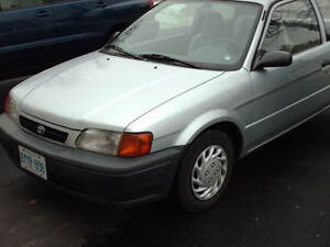 1996 Toyota Tercel Grey Coupe