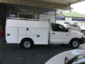 2014 Toyota Hilux TGN16R MY14 Workmate White 4 Speed Automatic 2D CAB CHASSIS Hamilton Newcastle Area Preview