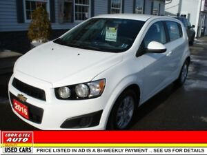 2016 Chevrolet Sonic LT $13995 financed price - 0 down payment*