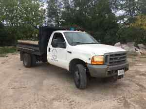 1999 Ford 550 4x4 with 11' x 8' dump Cambridge Kitchener Area image 1