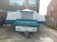 For sale Pennine Fiesta Folding Camper in very good condition including awning and extras