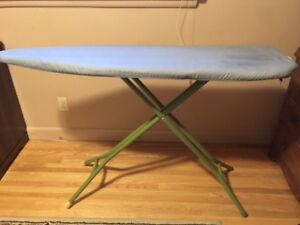 Sturdy ironing board with pad and cover