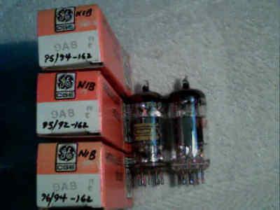 Tube 3ea NIB GE 9A8 + 2ea PCF80 / 9A8    tstd amp radio amplifier ham