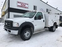 """2006 Ford Super Duty F-550 DRW XLT 9"""" Service Body Red Deer Alberta Preview"""