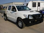 2013 Toyota Hilux KUN26R MY12 SR Double Cab White 5 Speed Manual Cab Chassis Singleton Singleton Area Preview