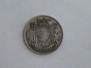 1939 Canadian 50 Cent Piece