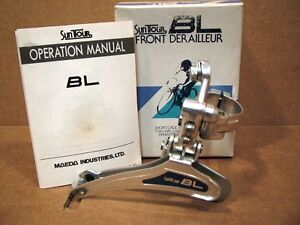 New-Old-Stock-Suntour-BL-Blue-Front-Derailleur-Clamp-On-28-6-mm-Model