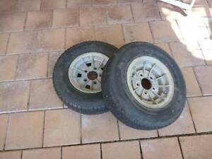 10 inch trailer wheels x 2 Trinity Beach Cairns City Preview