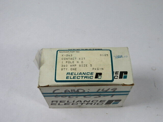 Reliance Electric K-263 Contactor Kit Size 5 360A 1P  NEW