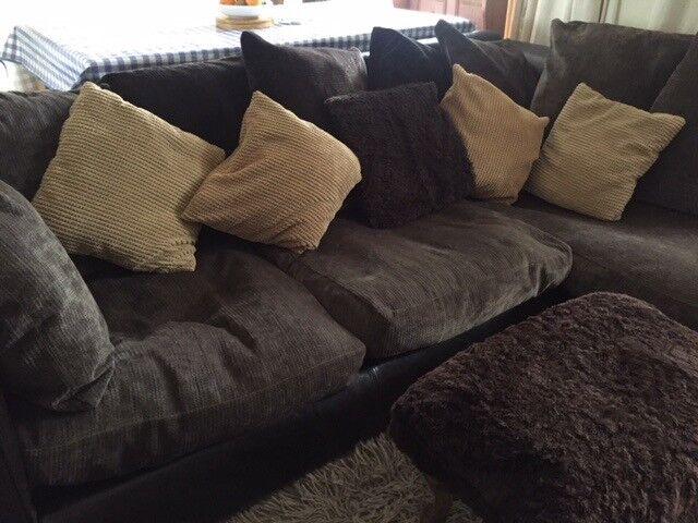 Chocolate Corner Sofa