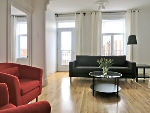 PLATEAU, Condo MEUBLÉ / TOUT INCLUS 3 chambres, Métro Laurier