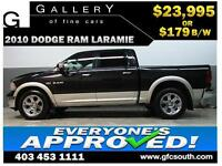 2010 DODGE RAM LARAMIE CREW *EVERYONE APPROVED* $0 DOWN $179/BW!