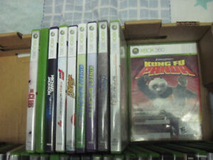 10 used xbox 360 games first $22 takes them look!!!