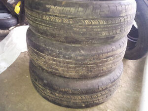(3) 185/65/15 tires honda civic all season ( NO RIMS)