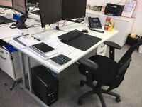 7 White office Desks - Nearly New (9 months old)