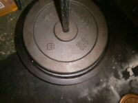 2 x 20KG Iron weights, not matching but heavy