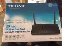 Tp-Link AC 750 Wirless ADSL2+ Modem Router