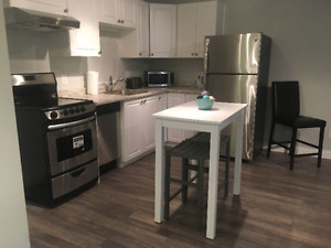 Brand New. Executive Fully furnished 1 bedroom Apt. avail.may 27