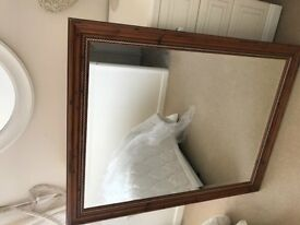 Bevel mirror with gold trim