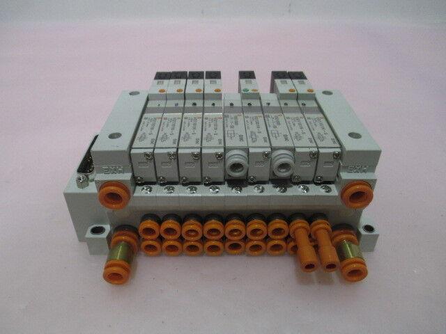 SMC US2344 Pneumatic Manifold, 7 VQ1101N-5, 2 VVQ1000-P-1-C6, 415580