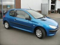 Peugeot 206 1.4lt - Very Low Mileage, 12 month MOT- great first car!