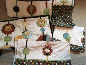 Crib bedding set and accessories