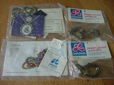 2 Vintage Lee Wards Pendant/Brooch And Ring Crewel Kits NIP - $8.00