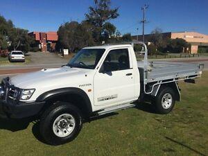 2006 Nissan Patrol GU IV MY06 ST White 5 Speed Manual Trayback Wangara Wanneroo Area Preview