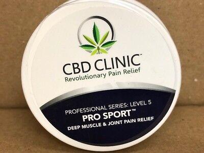 CBD Clinic Level 5 Pro Sport Deep Muscle&Joint PainRelief Cream 1.55 oz jar/ 44g
