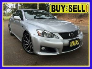 2008 Lexus IS F USE20R Silver 8 Speed Automatic Sedan Lansvale Liverpool Area Preview