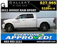 2011 DODGE RAM SPORT CREW *EVERYONE APPROVED* $0 DOWN $189/BW!