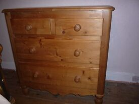 SUPER LARGE VINTAGE OLD PINE CHEST OF DRAWERS
