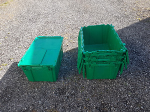 Heavy Duty Totes, Plastic Storage Containers-stackable with lids