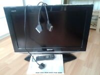 Sharp TV, 26 inch, built in Freeview, excellent condition