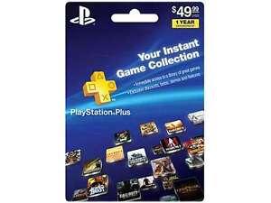 Sony PlayStation Plus 1 Year Membership (prepaid game card)
